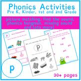 'p' Sound Phonics Bundle   Phonics Resources   Phonics Worksheets   CVC Words
