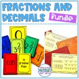 Fraction and Decimal Number Sense BUNDLE