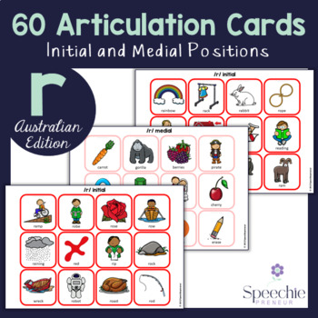 /r/ Articulation Flashcards - AUSTRALIAN EDITION - Initial and Medial
