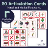 /r/ Articulation Flashcards - AUSTRALIAN EDITION - Initial