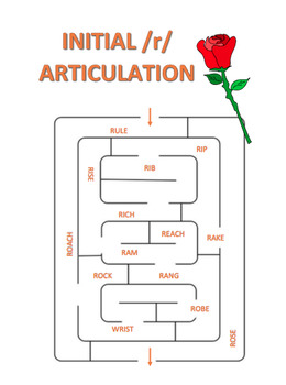 /r/ Articulation Maze Bundle-Initial, Medial, Final Positions