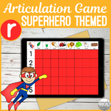 R Articulation No Print Interactive Superhero Game for Teletherapy or iPad