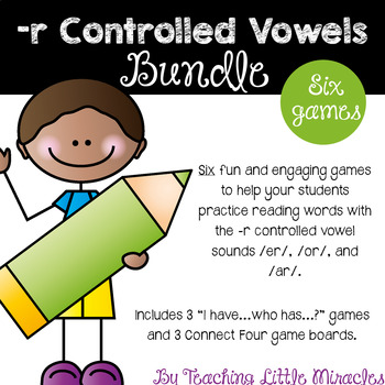 -r Controlled Vowels Game Pack - Bundle