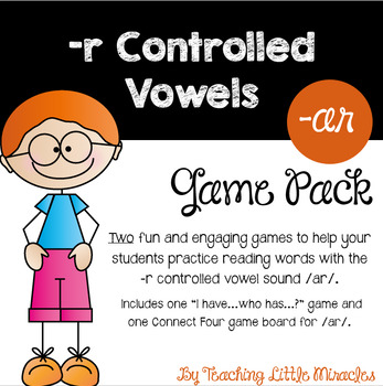 -r Controlled Vowels /ar/ Sound Game Pack