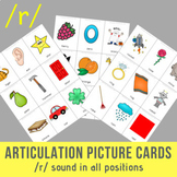 /r/ Sound Articulation Picture Cards - R Sound In All Positions