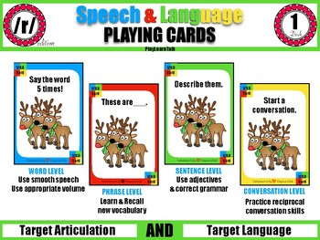 /r/ Speech & Language Playing Cards