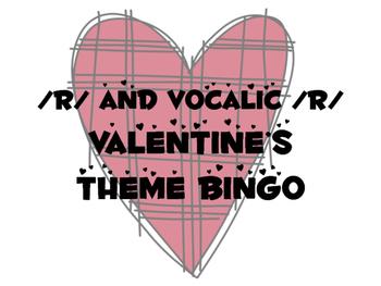 /r/ and Vocalic /r/ Valentine's Bingo