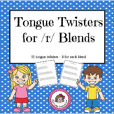 Tongue Twisters for /r/ Blends - An Articulation Carryover Activity