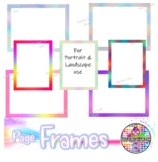 rainbow page frames, decks, index cards