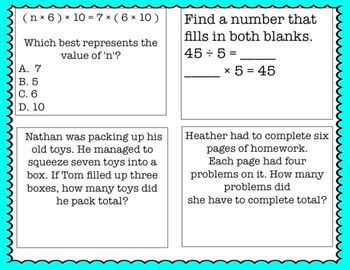 3rd Grade Daily Math Review: Fractions, Multiplication - Common Core Aligned