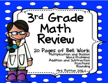 3rd Grade Daily Math Review: Fractions, Multiplication - C