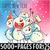 New years activity bundle (5000 + pages)