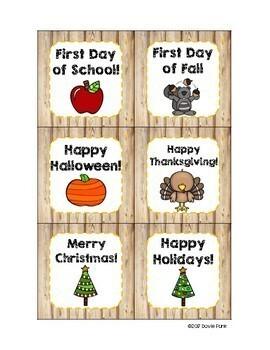 Woodland Theme Classroom Decor Calendar Set - Forest Animals