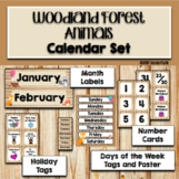 Woodland Animals Classroom Theme Decor Calendar Set