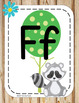 Woodland Theme Classroom Decor Alphabet Posters - Forest Animals Camping
