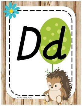 Woodland Animals Classroom Decor Alphabet Posters - Italics Forest