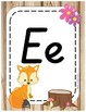 Woodland Animals Classroom Decor Alphabet Posters - Italics Forest