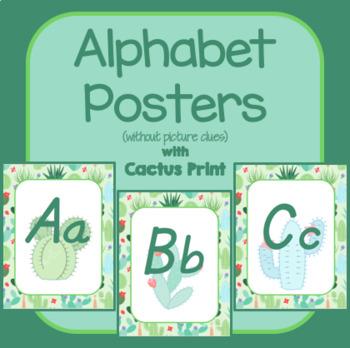 #roomdecor Classroom Decor Watercolor Cactus Alphabet Posters Italics