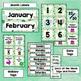 Classroom Decor Watercolor Cactus Calendar