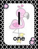 #roomdecor Classroom Decor Pink, Black & White Flamingo Number Posters 1-20