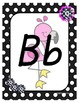 Classroom Decor Pink Flamingo Alphabet Posters - Pink and Black