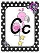 Classroom Decor Pink Flamingo Alphabet Posters - Pink and Black