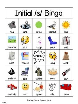 /s/ Articulation Bingo
