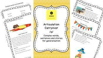 /s/ Articulation Carryover and No-print Stories Bundle