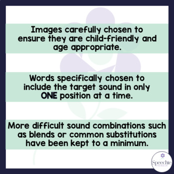 /s/ Articulation Flashcards - Initial, Medial and Final