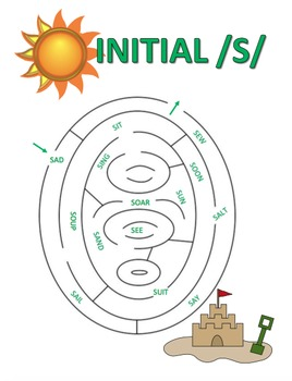 /s/ Articulation Maze Bundle-Initial, Initial Clusters, Medial, and Final