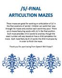/s/-Final Articulation Mazes