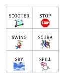 s Words Flash Cards