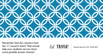 /s/ Trivia Game