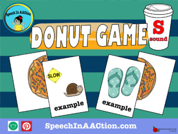 /s/ all positions- Donut Game! Speech Sound Series