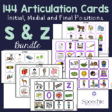 /s/ and /z/ Articulation Flashcards - Initial, Medial and Final - BUNDLE