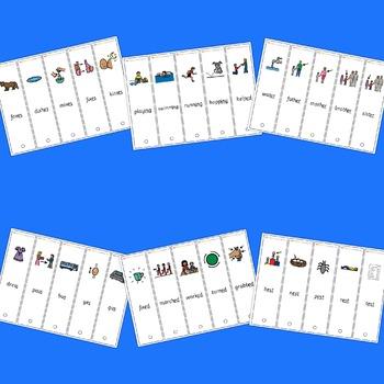 -s, -es, -ing, -ed, -er, -est fans - Boardmaker Visual Aids for Autism SPED