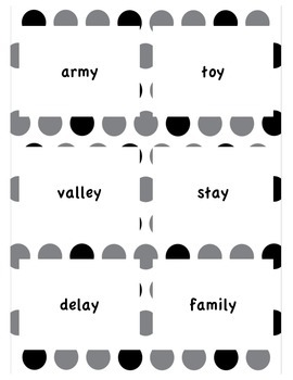 s and ies word sort