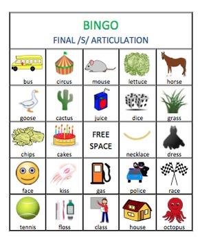 /s/ & /r/ Articulation Bingo Bundle
