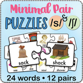 /s/ & 'sh' Minimal Pairs Jigsaw Puzzles - Speech Therapy Activity Game