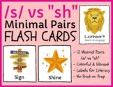 "/s/ vs ""sh"" - MINIMAL PAIRS - FLASHCARDS - initial & final"