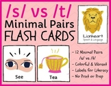 /s/ vs /t/ - minimal pairs - teletherapy & distance learning
