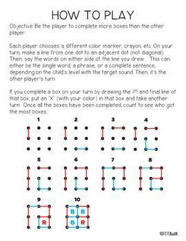 /s, z/ Dots and Boxes Quick-Print Games