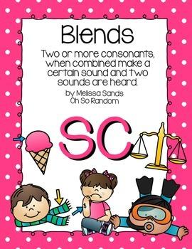 -sc Blend Anchor Chart & Practice {Click File, Print}