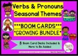Verbs & Pronouns Practice Seasonal Themed Growing Bundle B
