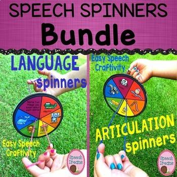 Speech Craft Spinners Bundle  {low prep black & white print}