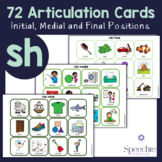 /sh/ Articulation Flashcards - Initial, Medial and Final