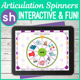 NO PRINT 'sh' Articulation Spinners - 'sh' In All Positions