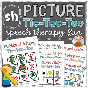 /sh/ Articulation Tic-Tac-Toe (Initial, Medial, Final sh) - Speech Therapy