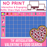 'th' Articulation Valentines Day Game - No Print - Food Search Game