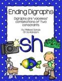 -sh Final Digraph Anchor Chart & Practice {Click File, Print}
